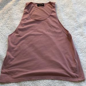 Zara Athletic Cotton Tank Sz L